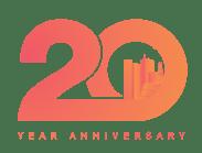 Payworks' 20th Anniversary logo.