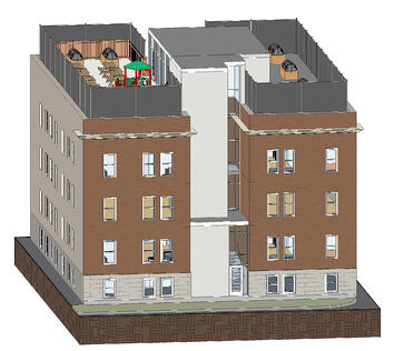 Architectural render courtesy of the West Central Women's Resource Centre.
